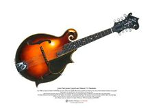John Paul Jones' Lloyd Loar Gibson F-5 Mandolin ART POSTER A3 size