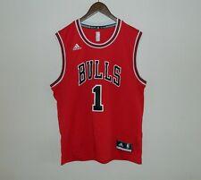 Men Adidas CHICAGO BULLS NBA Jersey Derrick Rose #1 Red Size M
