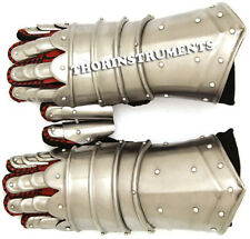 Medieval Warrior Metal Gothic Knight Style  Functional Armor Gloves