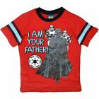 BOYS STAR WARS RED T SHIRT TEE DARTH VADER AND STORMTROOPERS SIZE 2, 4, 5, 6, 7