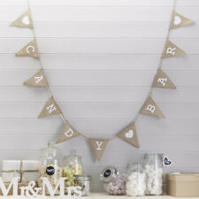 Candy bar Bunting Style Vintage Rustique Hesse Bunting, décoration de mariage