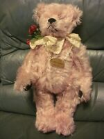 Teddy Hermann 50/50  bear designed Ulla Hermann Ltd Edit Long pink mohair
