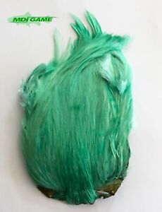 MDI Game Fishing Quality Dyed Light Green Indian Cock Cape - Fly Tying (Ref:A1)