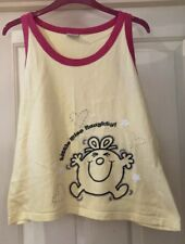 Evie Little Miss Naughty Yellow Vest Top, Size 14-16 - Fab!