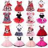 Minnie Mouse Kids Girls Tutu Skirt Polka Dot Birthday Party Sun Dress Clothes