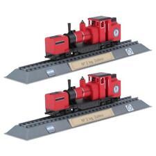 2pcs Steam Engine Locomotive Model DIY Layout Making Train Toys Decoration