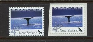 NEW ZEALAND 2004, MARINE - SEA LIFE: WHALE, KAIKOURA,  Scott 1926 and 1928, MNH