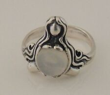 Goddess Abundance Ring .925 Sterling Silver Sz 6 w/ Genuine Moonstone gemstone