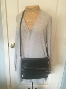 HAMMITT Medium Dark Grey Crossbody /Clutch Leather Bag
