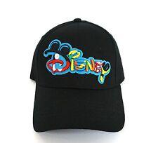 Disney Mickey Mouse Disney Logo Signature Womens Black Mens Hat Cap