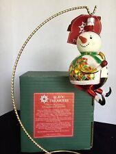 """""""Snow Ho Ho"""" 5.25"""" Slavic Treasures D20M17 Extreme FreeBlown Ornament- Nib"""