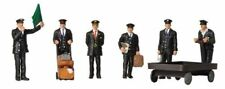 Busch 36-404 1940/50s Station Staff OO Scale Model Figures Train