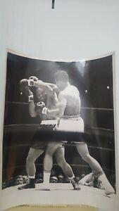 Vintage 8x10 Boxing Photo: Muhammad Ali +  Zora Folley. 1967. UPI.