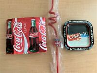 Coca Cola Coke Is It Gift Pack - Includes: Can Sleeve, Plastic Straw & Coasters