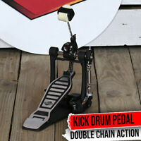 GRIFFIN Bass Drum Pedal - Single Kick Foot Percussion Hardware Double Chain