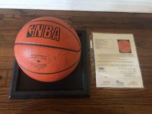 ORIGINAL 1986-87 LA LAKERS TEAM SIGNED BASKETBALL JOHNSON KAREEM WORTHY JSA LOA