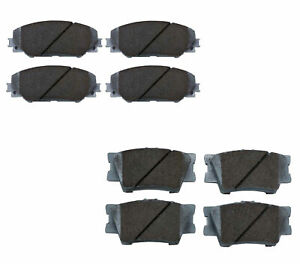 Beck-Arnley Ceramic Front Rear Brake Pad Kit For Pontiac Vibe Toyota Matrix RAV4