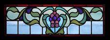 Fabulous Art Nouveau Floral Antique English Stained Glass Window
