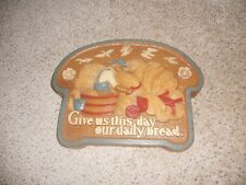 Give Us This Day Our Daily Bread Farm Wall Plaque Usa Homco Home Interior