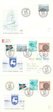 FINLAND ALAND 3/1/1984 LOT OF THREE FDC'S TO NEW YORK ONE REGISTERED