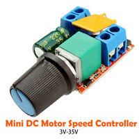 Mini DC Motor Speed Control Driver Board 3V-35V 5A PWM Controller LED Dimmer