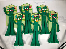 Lot Of 6 Gumby Chew Toy Large For Dog 9� Green Throw Toy Incentive Multipet New!