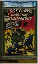 SGT THE HOWLING AND HIS COMMANDOS #40 CGC 9.4 1967 DICK AYERS OFF WHITE TO WHITE