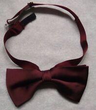 Vintage Bow Tie MENS Dickie Bowtie Retro Adjustable BURGUNDY