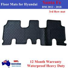 Heavy Duty Car Floor Mats Tailored for Hyundai Santa Fe 2012- 2018 Rear 3rd row