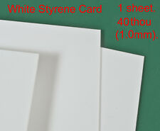 40thou thick (1.0mm thick) white styrene card for modelling work of all kinds.