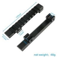 11mm Dovetail to 20mm Weaver Picatinny Extension Adapter Scope Riser Rail Mount