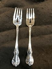 2 TOWLE OLD MASTER STERLING SILVER SALAD  FORKS 6 1/2 INCHES!! PRISTINE!!
