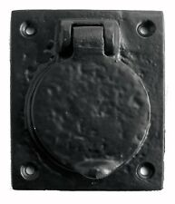 76mm x 67mm Yale / Cylinder Door Lock Cover in Black Cast Iron (JAB10)