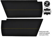 YELLOW STITCHING 2x REAR END SIDE PANEL VINYL COVERS FITS VW T25 T3 WESTFALIA