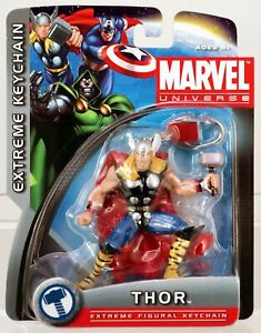 Marvel Universe Thor Extreme figural Keychain #1930 New NRFP 2011 by Basic Fun