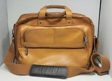 Samsonite Brown Leather Messenger Bag Briefcase Laptop Case Shoulder Bag Vintage