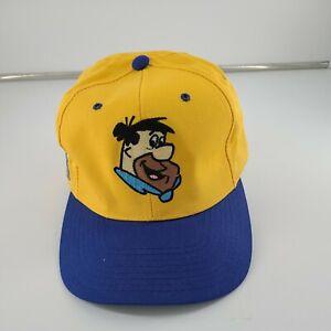 Fred Flintstone Strap Back Trucker Hat 1993 Hanna-Barbara American Needle Yellow