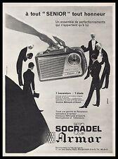 Publicité SOCRADEL Armor  Poste Radio transistor  ad  1960 -4I