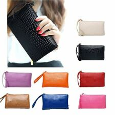 LADIES CLUTCH BAG PURSE WITH WRIST STRAP VARIOUS COLOURS WRISTLET BLACK NAVY RED
