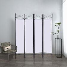 Paravent Trennwand Raumteiler 4tlg Spanische Wand Umkleide Sichtschutz flexibel
