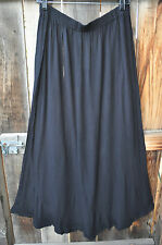 ART TO WEAR MISSION CANYON FLIRTY 5 SKIRT IN CLASSIC SOLID BLACK, ONE SIZE!