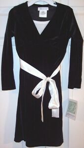 NWT Bonnie Jean Girl's Black Velvet Special Occasion or Holiday Dress, 4, $48