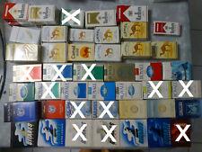 Lot Paquets de cigarettes vides