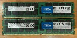 Crucial CT16G4RFD4213.36FA2 32GB (2x16GB) DDR4 Reg ECC 2133Mhz 2Rx4 RDIMM MIcron
