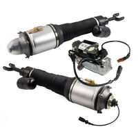 New for Bentley Continental GT Flying Spur Pair Front Struts Assembly + Air Pump