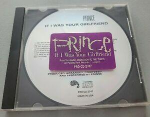 PRINCE IF I WAS YOUR GIRLFRIEND USA PROMO CD 1987