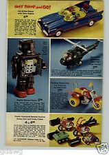1972 PAPER AD Toy Robot Mighty Martian Batman Robin Bump-'n-Go Machine Gun