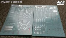 US Seller D.L Dalin METALLIC Waterslide decal MG 1/100 Psycho Zaku Gundam Gunpla