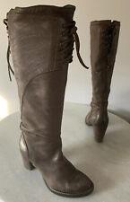 Alberto Fermani Brown Leather Heel Women's Tall Boot Sz 37 7
