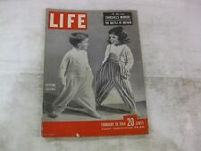 Life Magazine February 28th 1949 Costume Clothes Cover Published By Time   mg364